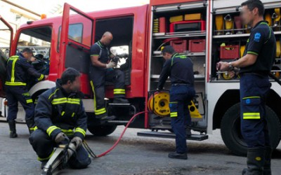 Accident in Móstoles between bus and fire truck